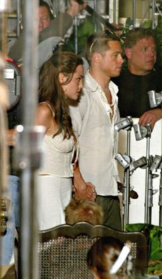 Angelina Jolie Photos: FILE: MR. AND MRS. PITT - Brad Pitt and Angelina Jolie have gotten engaged after Seven years as a couple