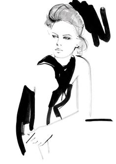Black & white fashion illustration // Kornelia Debosz
