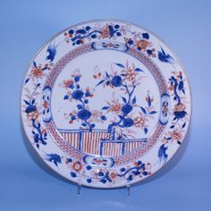 Charger with imari decoration - Chinese export porcelain (Kangxi- late 17th- early 18th century)