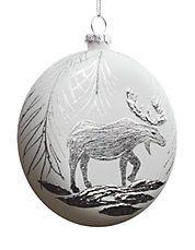 Moose Disk Ornament