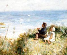 Robert Gemmell Hutchison - Flying the Kite Oil Painters, Beautiful Ocean, Oil Painting Reproductions, Art Studies, New Artists, Kite, Art Oil, Lovers Art, Creative Art