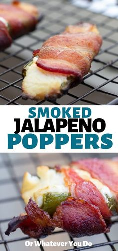 Smoked Jalapeno Poppers on your Traeger wood-pellet grill is a perfect party appetizer! Related posts:Savory, Mexican salad with minced meat, kidney beans, corn and salsa - a . Grilled Jalapeno Poppers, Smoked Jalapeno, Jalapeno Popper Recipes, Stuffed Jalapeno Peppers, Traeger Recipes, Grilling Recipes, Traeger Bbq, Grilling Ideas, Pellet Grill Recipes
