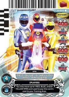 Mystic Phoenix 052 X 4 POWER RANGERS CARD LEGENDS UNITE