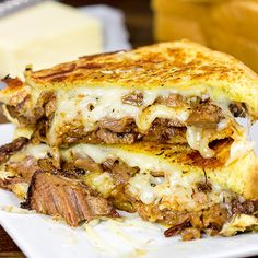 Make your next sandwich epic with this Smoked Brisket Grilled Cheese! High Protein Bariatric Recipes, Bariatric Eating, Beef Recipes, Cooking Recipes, Yummy Recipes, Pureed Recipes, Family Recipes, Cooking Ideas, Hamburgers