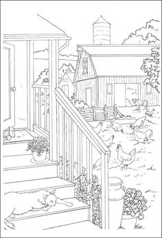 scenic coloring pages | Country Scenes to Paint and Color (020851) Details - Rainbow Resource ...