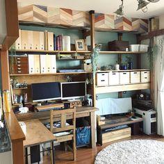 第5回ディアウォール創作コンテスト│若井産業株式会社 HI営業部 Study Desk, Home Office Design, New Room, Corner Desk, Craft, Architecture Design, Interior, Furniture, Home Decor