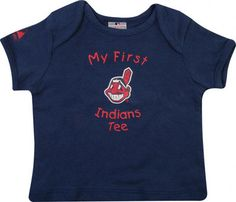 baby's first cleveland indians shirt!