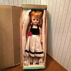 SOLD - Gorgeous 1957 Vogue Red Head Jill Doll In Original Box - Time Travel Treasures #dollshopsunited