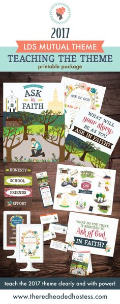 2017 youth theme - Ask of God in Faith!  This helps you TEACH the package and has such amazing ideas and printable helps!  The Joseph Smith timeline is incredible and the handouts are perfect!