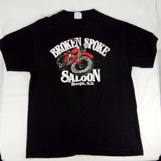 Vintage 1994 Broken Spoke Saloon Sturgis Bike Ralley T-Shirt Men's L #Hanes