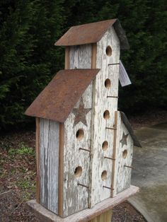 barn board birdhouses   Large Barn Birdhouse Handmade Primitive ...   Birdhouses  Feeders