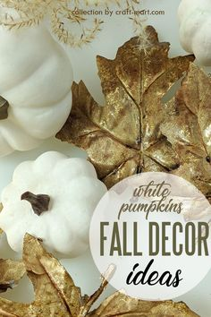 Chilly fall weather ... leaves are changing colors... pumpkins are on every corner .... pumpkin spices with aroma of cinnamon, nutmeg, and cloves are in the air - it is only natural to think of fall decor. Check out our collection of white pumpkin decor that is simple yet sophisticated.