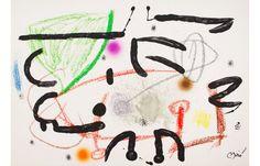 LOT 16 - JOAN MIRÓ - Maravillas con Variaciones Acrósticas en El Jardín de Miró 15 1975] - Chromolithography - 49.5 × 71 cm (19.5 × 28 inch) - Estimate €500 - €700 http://lavacow.com/current-auctions/lavacow-christmas-auction/maravillas-con-variaciones-acrosticas-en-el-jardin-de-miro-15.html#sthash.wA10JbhG.dpuf