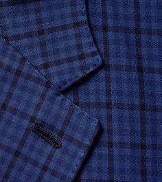 ERMENEGILDO ZEGNA:Veste FormelleSerge de laine Col avec revers Quatre pBleu41616755IE