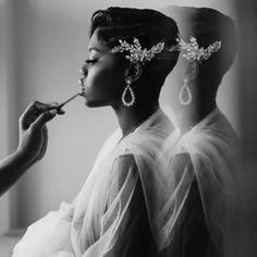 Bridal Hair And Makeup, Wedding Hair And Makeup, Bridal Beauty, Hair Makeup, Short Hair Dos, Short Hair Styles, Pixie Wedding Hair, Black Wedding Hairstyles, Bridal Hair Inspiration