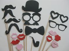 Items similar to Silly Photo Booth Party Props - The Sexy Collection - 18 piece set - Birthdays, Weddings, Parties - Photobooth Props on Etsy Photo Booth Party Props, Diy Photo Booth, Photo Props, Props Photobooth, Photos Saint Valentin, Carnival Party Games, Carnival Tickets, Carnival Ideas, Circus Party