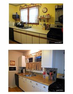 A matching ugly ass kitchen to mine before and after for the budget kitchen facelift solutioingenieria Gallery