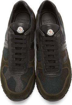 Moncler Green Camo Sneakers