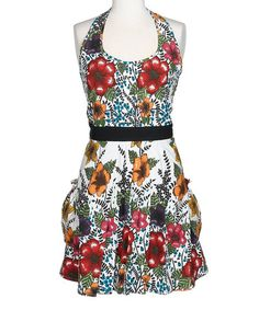 Take a look at this Design Imports India Flower Apron by Design Imports on #zulily today!