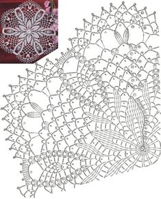 Free Crochet Doily Patterns, Crochet Doily Diagram, Crochet Pillow Pattern, Crochet Doilies, Crochet Lace, Thread Crochet, Crochet Stitches, Doilies Crafts, Beautiful Crochet