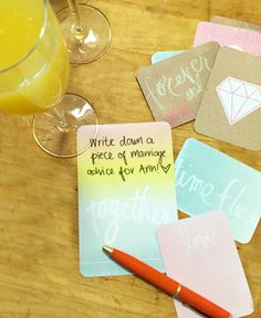 Farmhouse Chic Bridal Shower Brunch   Write down a piece of marriage advice for the bride to be!