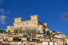 Celano Castle Abruzzo, Italy my mom's home town in this picture you can also see the house she grew up in.