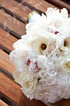 Anna and Spencer Photography, Atlanta Documentary Wedding Photographers. White Cala Lilly and Peony Bride's Boquet.