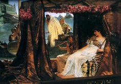 Antonio y Cleopatra Alma Tadema Colección Privada