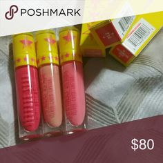 Jeffree Star. Lipsticks. 3 Jeffree Star lipsticks watermelon soda, nude beach, 714. Jeffree Star Makeup Lipstick