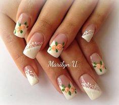 Uñas Con Flores Decoradas (6) J Nails, Nail Decorations, Mani Pedi, Nail Arts, Nails Inspiration, Beauty Nails, Flower Designs, Nail Art Designs, Ideas Para