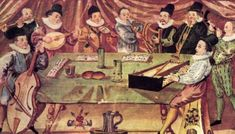 "Photo: David Prentel (wikipedia) A Music College, from ""Gymnasium illustre,"" Lauingen, Germany, c. 1590. (Wikipedia)."