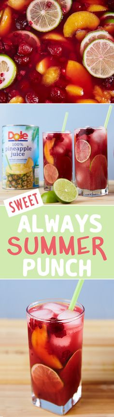 Enjoy this delicious summer punch under the sun!