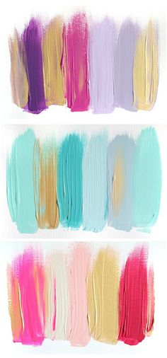 color palettes… for bedroom color schemes to party makeup