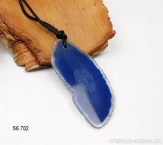 Collier Agate bleue avec ARBRE DE VIE et cordon en satin à nouer. Pièce unique Satin, Unique, Crystals, Cords, Satin Tulle, Silk Satin