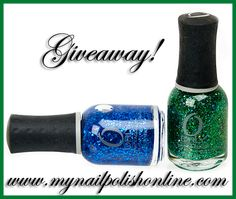 Giveaway! You can win Orly Mermaid Tale and Orly Spazmatic!  http://www.mynailpolishonline.com/