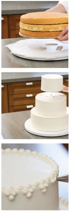 Who says you can't make a homemade Wedding Cake? With our step-by-step guide you'll save money and spoil your guests with a delicious cake. save money on wedding, frugal wedding ideas #wedding #frugal
