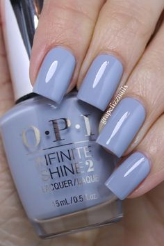opi Reach for the Sky is a stormy grey-blue cream