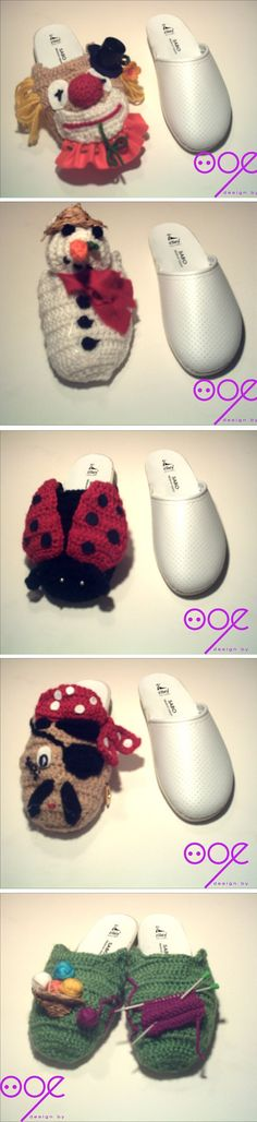 Very cute slipper ideas
