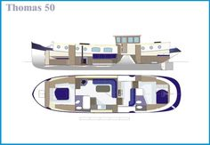 Thomas 50/57/66ft Luxemotor Dutch Barge | Branson Boat Design Dutch Barges