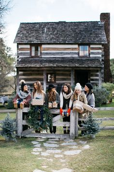 The Camille Styles team at the Bohl Cabin in Fredericksburg, Texas for Christmas