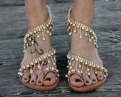 Nuziale greco Sandali sandali di lussuosi di DimitrasWorkshop