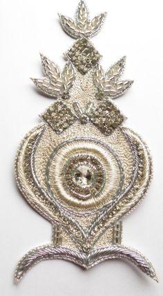 Bridal Applique for Wedding Dress. Rhinestone Waist by FolkStroke, $20.00