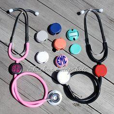 Stethoscope ID Tag Monogrammed Stethoscope ID Clip