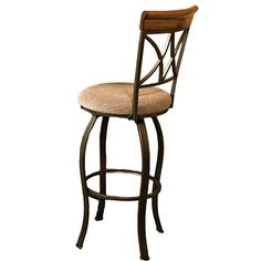 Perfect pulled up to your breakfast table or kitchen island, this classic barstool showcases an openwork back and swivel seat.   Pro...