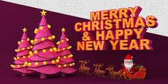 MERRY CHRISTMAS & HAPPY NEW YEAR on Behance New Year Illustration, Graphic Design Illustration, Merry Christmas And Happy New Year, 3ds Max, Behance, Christmas Ornaments, Holiday Decor, Christmas Jewelry, Christmas Decorations