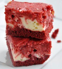 red velvet cheesecake brownies!! These look amazing! yum