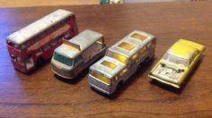 Matcbox No 21, 36, 66, 74  4 X Cars Vintage Toy Cars Lesney  - http://www.matchbox-lesney.com/45209
