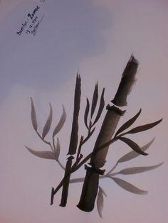 Sumi-e: Bamboe (nr.16)