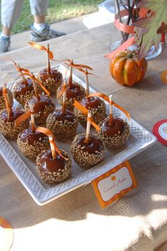 Yummy caramel apples (minus the nuts of course)