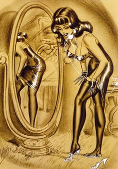 Bill Ward pin-up girl No honey I am not wearing your stockings, I bought my own